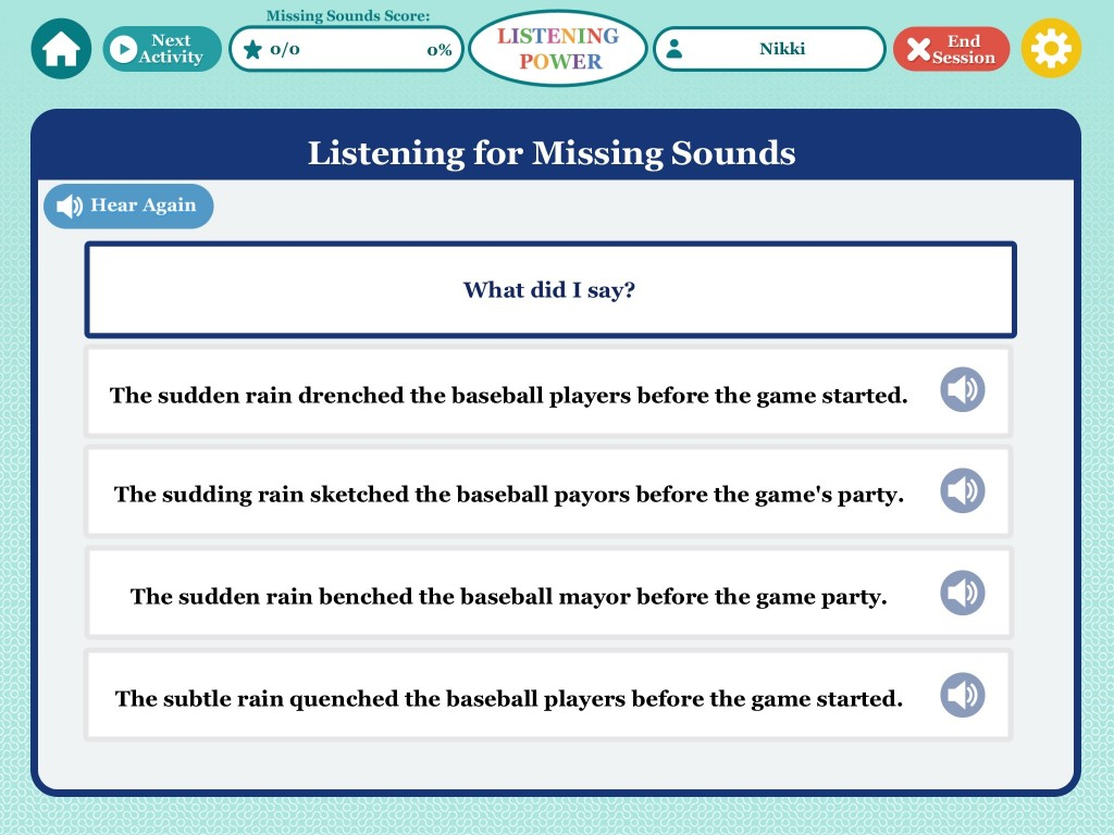 Listening for Missing Sounds