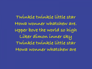 difficulty singing rhymes
